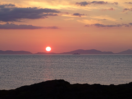 Sunset over the Western Isles